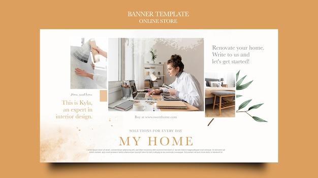 Banner orizzontale per negozio online di mobili per la casa