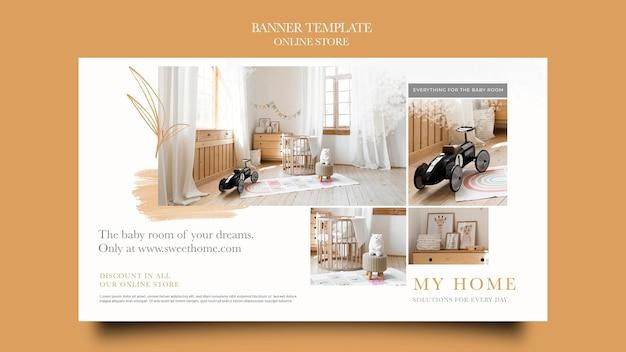 Horizontal banner for home furniture online shop