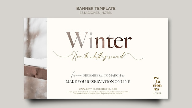 Horizontal banner for hotel business