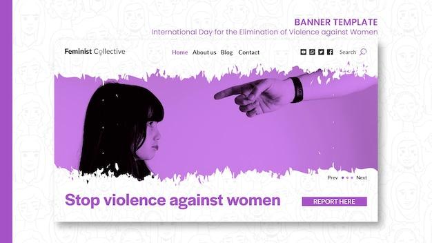 Banner orizzontale per la giornata internazionale per l'eliminazione della violenza contro le donne