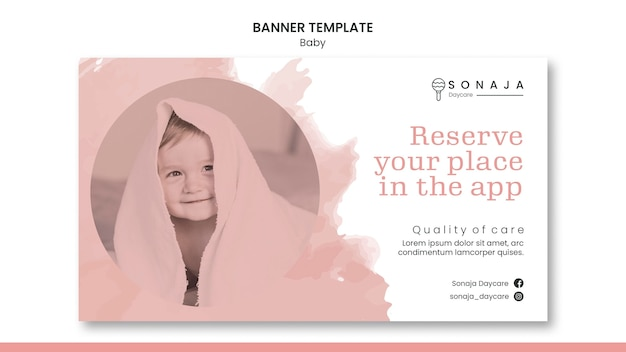 Horizontal banner for kids daycare