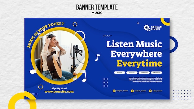 Horizontal banner for live music streaming