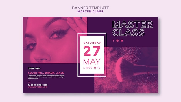 Horizontal banner for masterclass