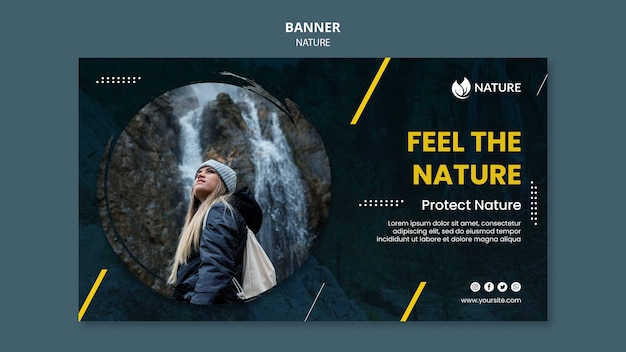 Horizontal banner for nature protection and preservation