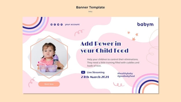 Banner orizzontale per neonato