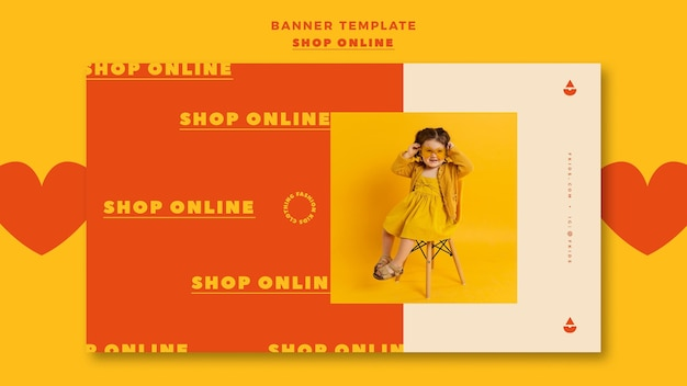 Horizontal banner for online shopping