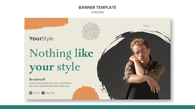 Horizontal banner for personal lifestyle