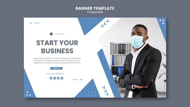 Horizontal banner for professional business