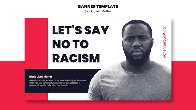 Horizontal banner for racism and violence