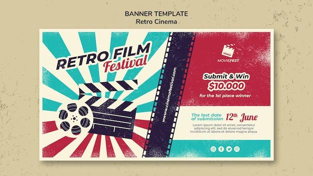 Banner orizzontale per il cinema retrò