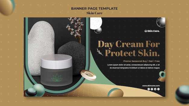 Horizontal banner for skin care products