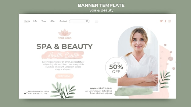 Horizontal banner for spa and relaxation