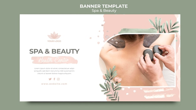 Horizontal banner for spa therapy