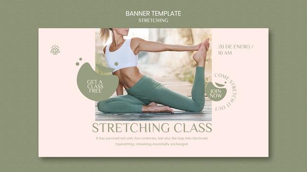 Banner orizzontale per corso di stretching