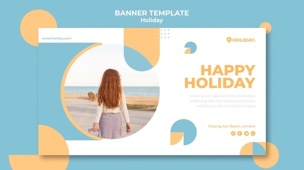 Horizontal banner for summer holiday