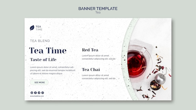 Horizontal banner for tea time
