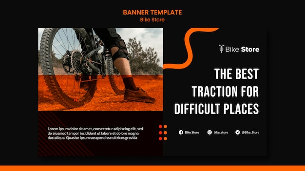 Horizontal banner template for bike store