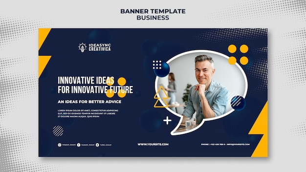 Horizontal banner template for business