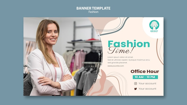 Horizontal banner template for fashion collection