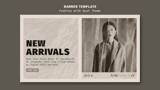 Horizontal banner template for fashion store