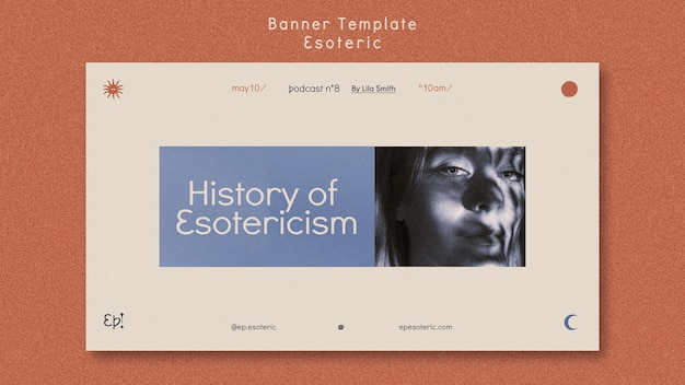Шаблон горизонтального баннера для мистики и эзотерики