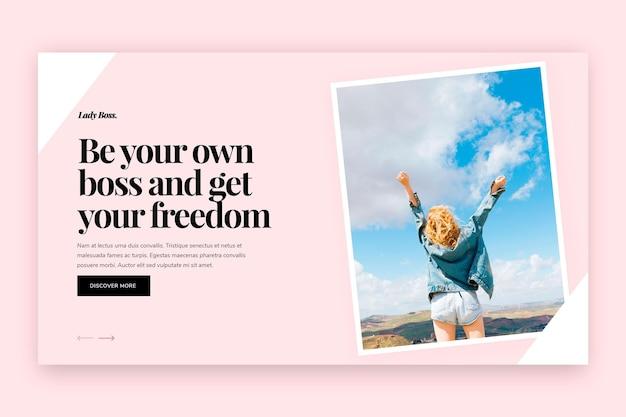 Modello di banner orizzontale per lavoro aziendale freelance