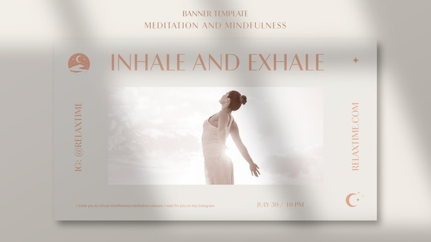Horizontal banner template for mindfulness