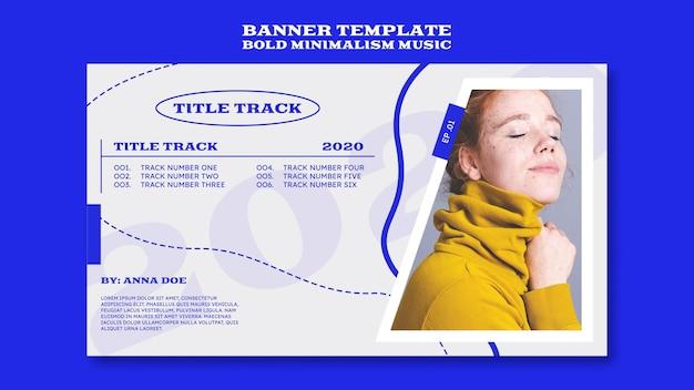 Horizontal banner template for musician