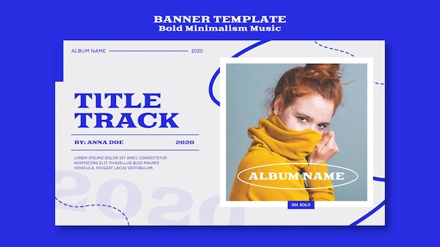 Horizontal banner template for musician