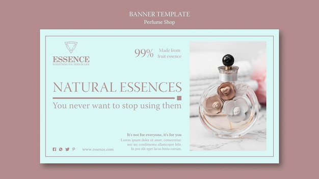 Horizontal banner template for perfume