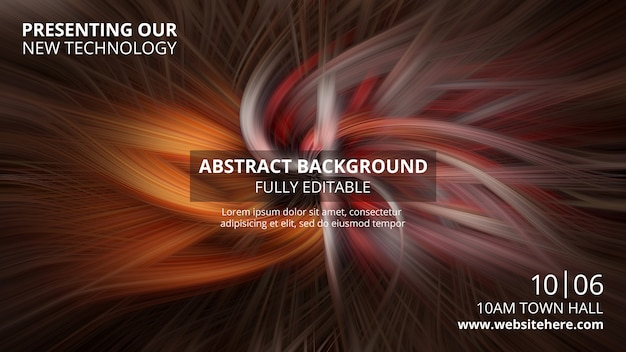 Horizontal banner template with abstract technology background