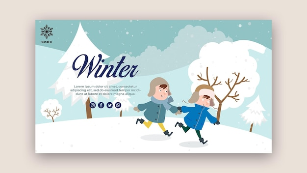 Horizontal banner template with children