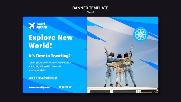 Horizontal banner for travel agency