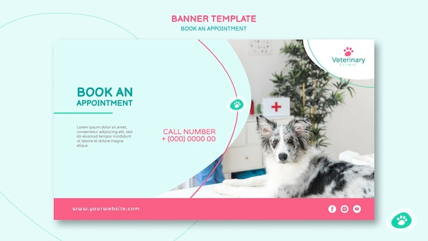 Horizontal banner for vet appointment