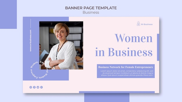 Horizontal banner for women in business