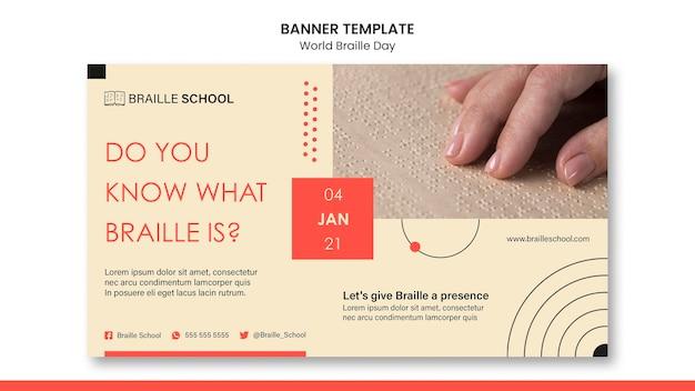 Horizontal banner for world braille day