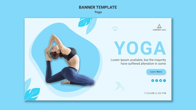Horizontal banner for yoga exercise