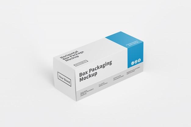 Горизонтальная коробка упаковочный макет