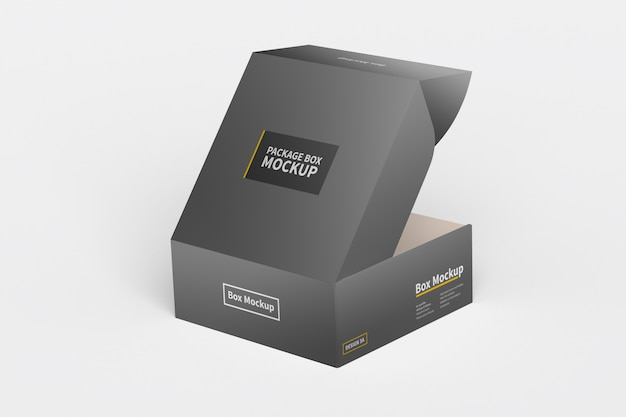 Horizontal box packaging mockup