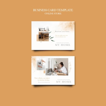 Horizontal business card for home furniture online shop