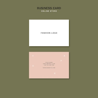 Horizontal business card for minimalistic online fashion store
