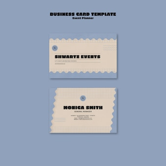 Horizontal business card template for event planner