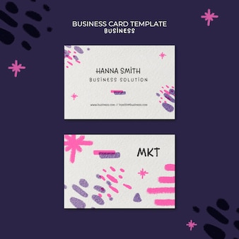 Horizontal business card template for marketing agency