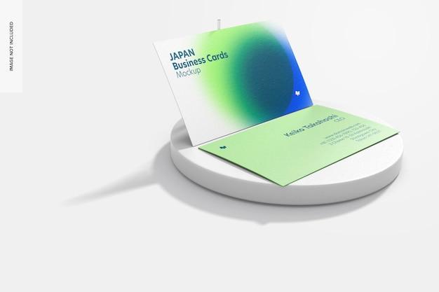 Горизонтальные визитки с макетом из круглого камня