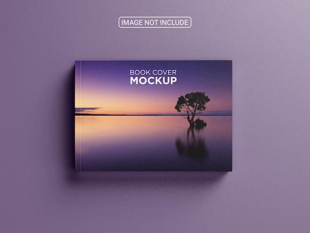 Horizontal catalogue or book cover mockup