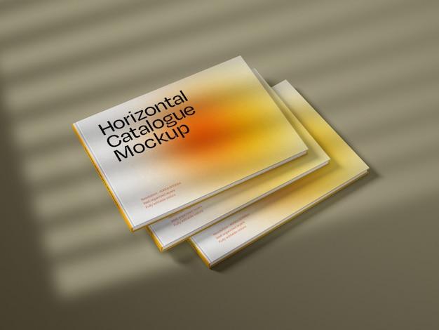 Horizontal catalogue cover mockup