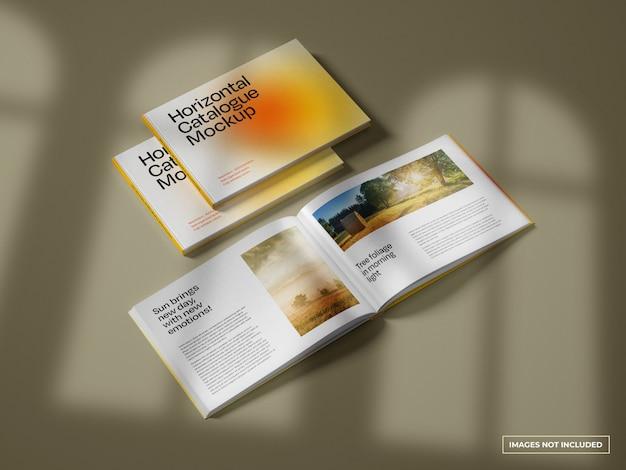 Horizontal catalogue mockup