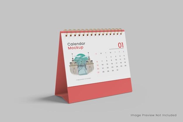 Горизонтальный настольный календарь макет 3d-рендеринга