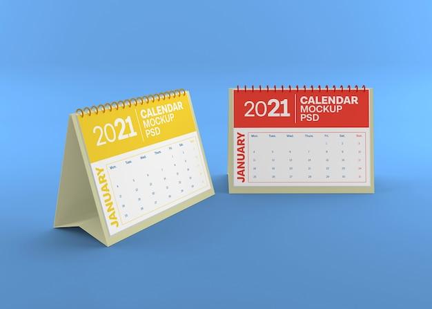 Макет горизонтального настольного календаря изолирован