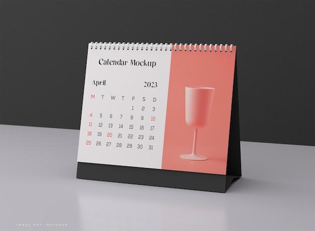 Макет горизонтального настольного календаря
